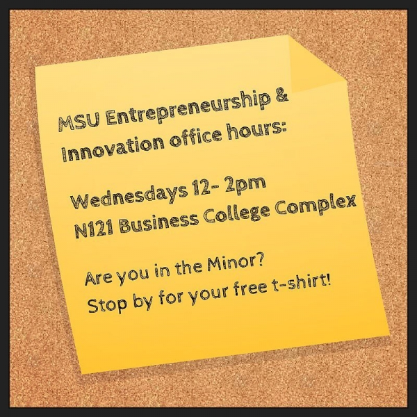 We're here at office hours to answer all your questions. Stop by today from 12-2pm! #ESHIP #entrepreneurship #innovation