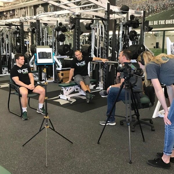 On location with @vadenutrition talking about how they were able to use our resources to develop and launch their product. @josiahmsuprice @joejohnson149