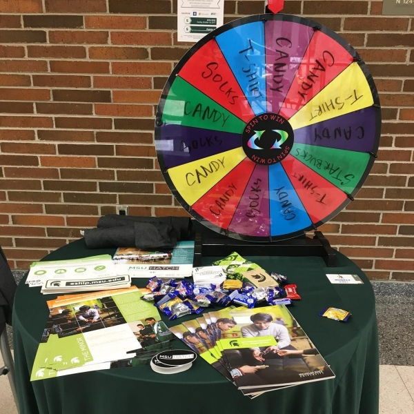 Successful info table today at  @msubroad ! Thanks to all who stopped by. Watch out for our info table next Tuesday in the MSU Engineering building #Entrepreneurship #Innovation  #SpartansWill