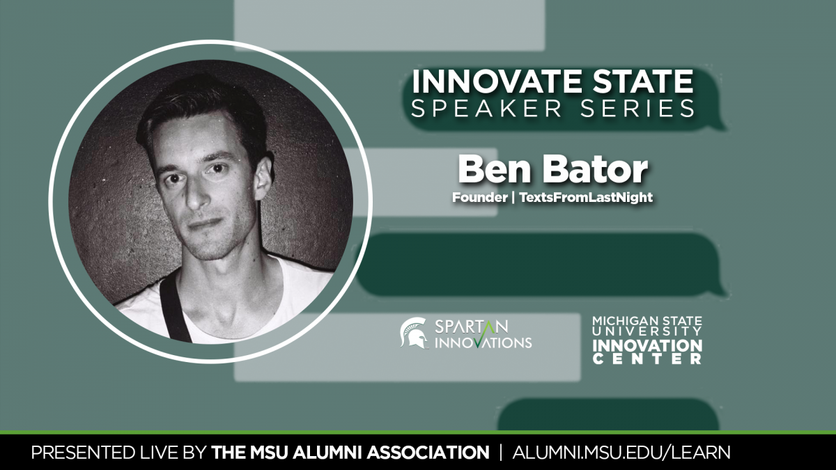 Ben Bator Innovate State Spearker Series