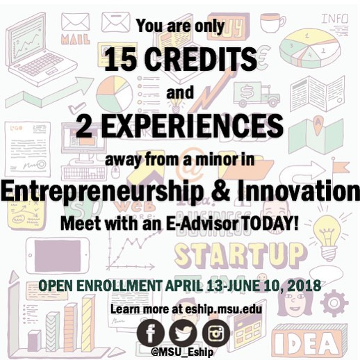 E-Advisors are in every college to answer questions about Entrepreneurship & Innovation. Schedule an appointment for #scheduleplanning before open enrollment begins!⚡️💡🚀