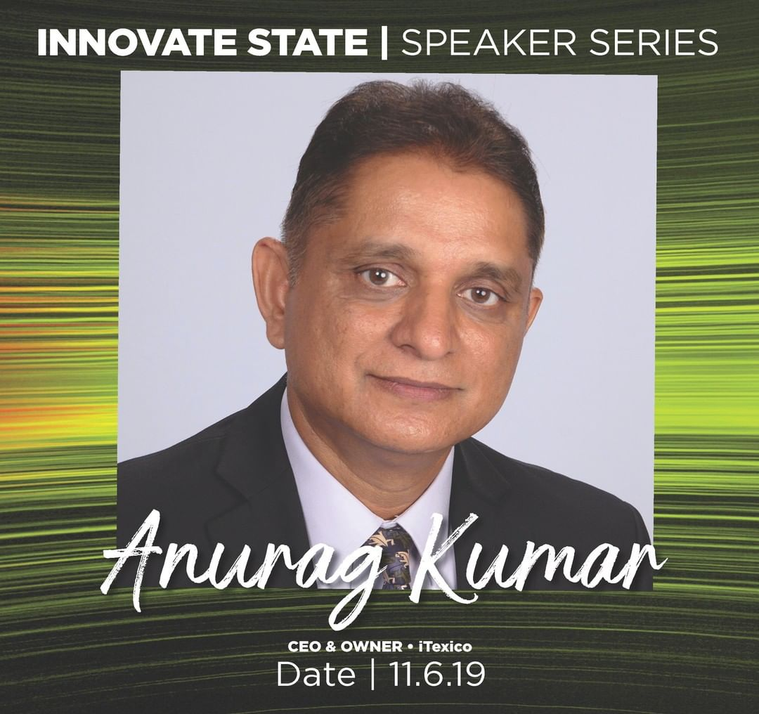 Anurag Kumar, CEO of iTexico is coming back to @MichiganStateU for #InnovateState!  Anurag is an admired alum and is ready to share his perspectives and experiences!🚀💡⚡️
