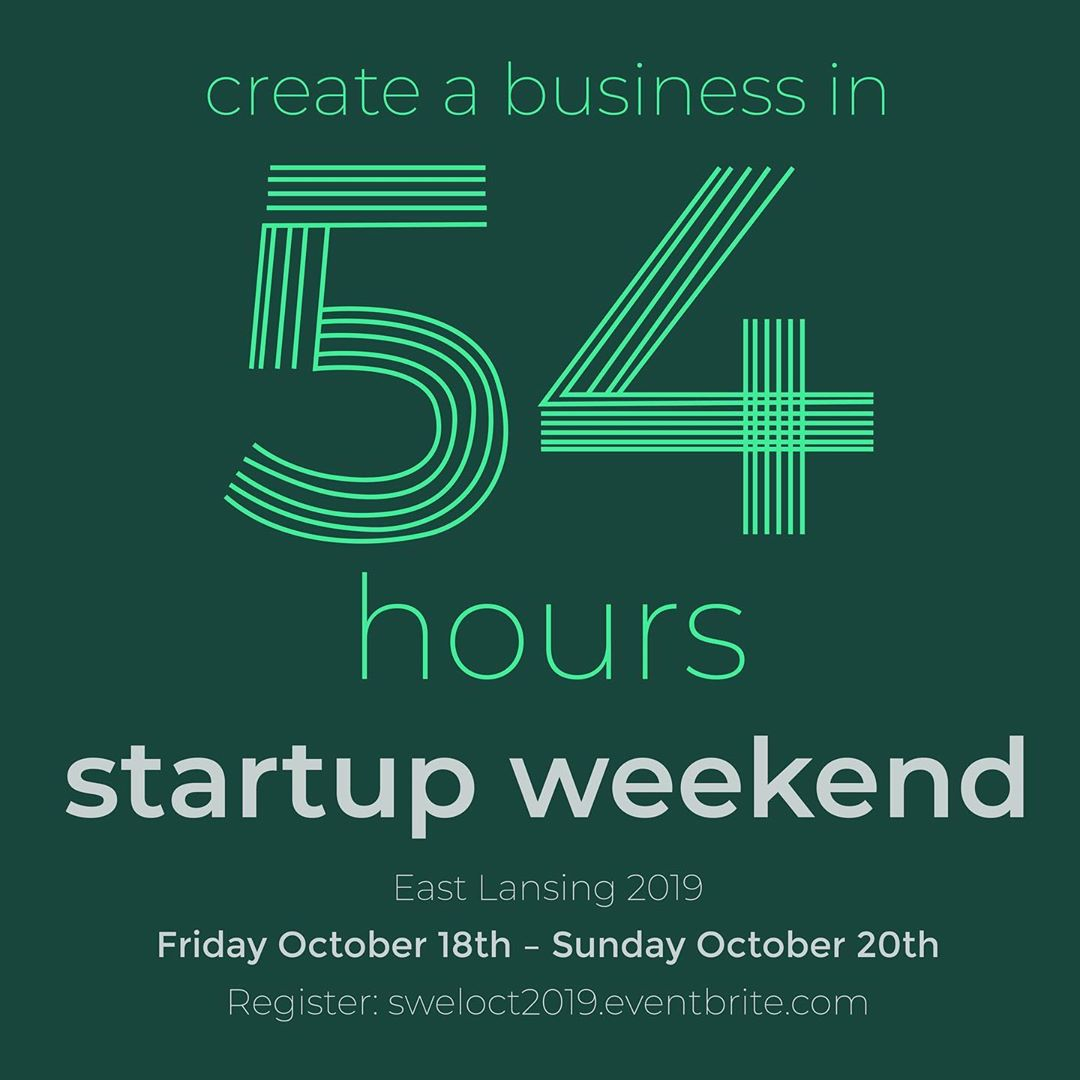 Pssst . . . @startupweekend #eastlansing is just one week away! 🤭 Have you and your friends registered for this 54-hour #entrepreneurial #extravaganza? Check out our #linkinbio for details 👏🔥💪