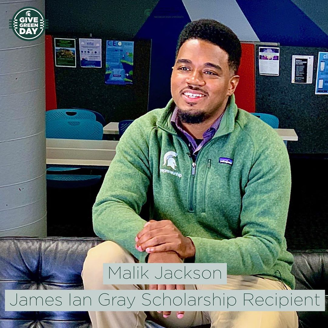 On Dec. 3, you can help #student #entrepreneurial #scholars reach the heights of #success! Help us reach our $5,000 goal and strengthen the #JamesIanGray #scholarship for future #Spartan entrepreneurs! #linkinbio👆