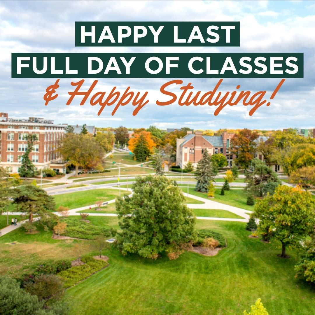 Happy last full day of classes & happy studying!💡💚📕