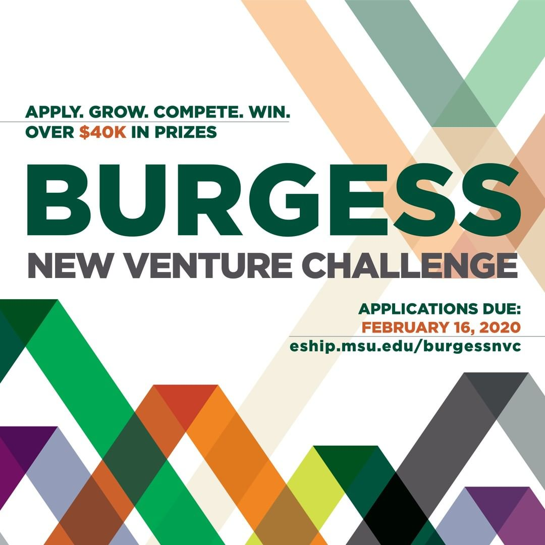 The countdown is on . . . applications for 2020's Burgess New Venture Challenge (#BNVC) are due on Feb. 16th!🚀💡💚 #entrepreneurship #leadership and $42K in cash #prizes!