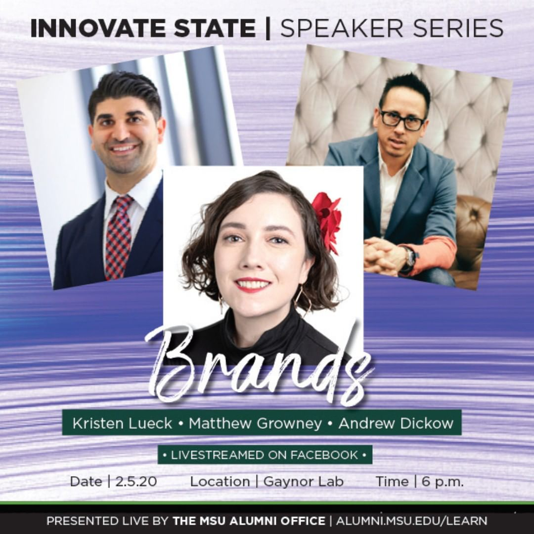 You don't want to miss this, Innovate State: Brands Edition is tonight at 6 p.m. in the Gaynor Entrepreneurship Lab. Space is limited, register now to secure your seat! 🚀💚